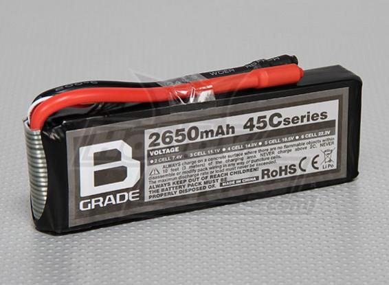 Bグレード2650mAh 3S 45C Lipolyバッテリー