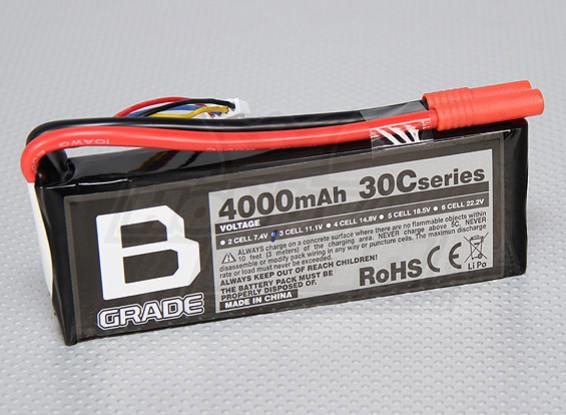 Bグレード4000mAh 3S 30C Lipolyバッテリー