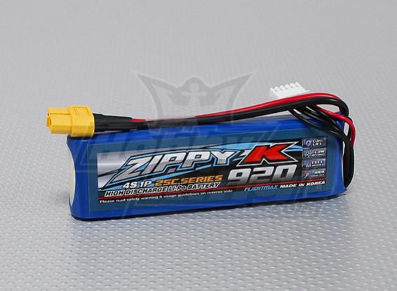ジッピー-K Flightmax 920mAh 4S1P 25C Lipolyバッテリー