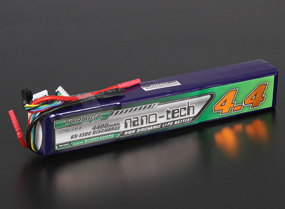 Turnigyナノテクノロジー4400mah 10S 65〜130℃リポパック
