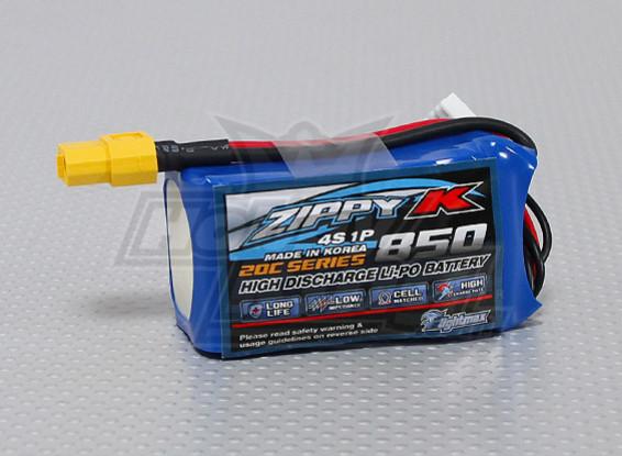ジッピー-K Flightmax 850mah 4S1P 20C Lipolyバッテリー