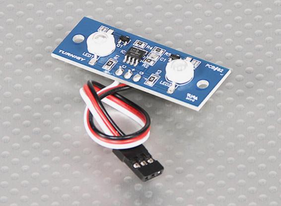 2つのLED PCBストロボ青と連続ホワイト3.3〜5.5V