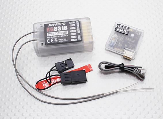 JR RG831B 8チャネルフルレンジ2.4GHzのDMSS受信機テレメトリ/ワット