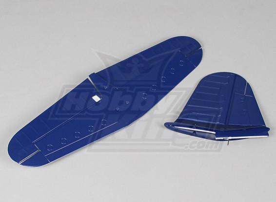 ホビーキングF4Uコルセアプラグ・アンド・フライ - 交換用テールセット