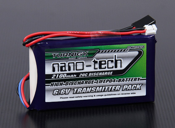 Turnigyナノテクノロジー2100mAh 2S1P 20CのLiFePO4送信機パック(双葉T14SG&4PK)