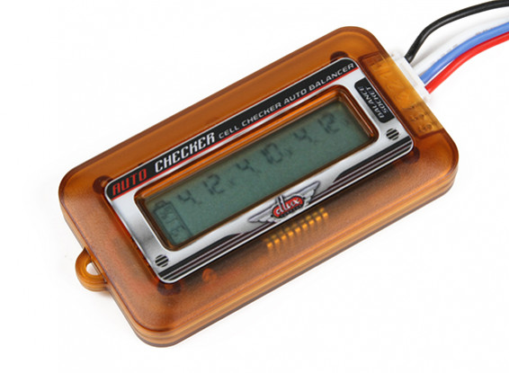 Turnigy DLUX LIPOバッテリーセル表示とバランサ(2S〜6S)