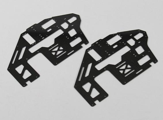 トレックス/ HK500 1.6ミリメートルカーボンファイバーメインフレーム側のセット(2個/袋)