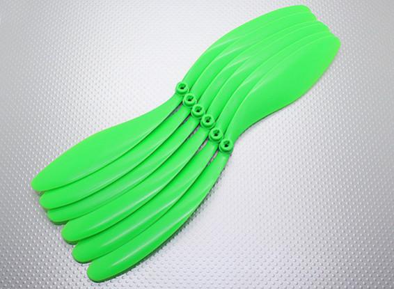 GWS EPプロペラ(RD-1260の305x152mm)、緑(6PCS /セット)