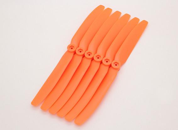 GWS EPプロペラ(DD-8040の203x102mm)オレンジ(6PCS /セット)
