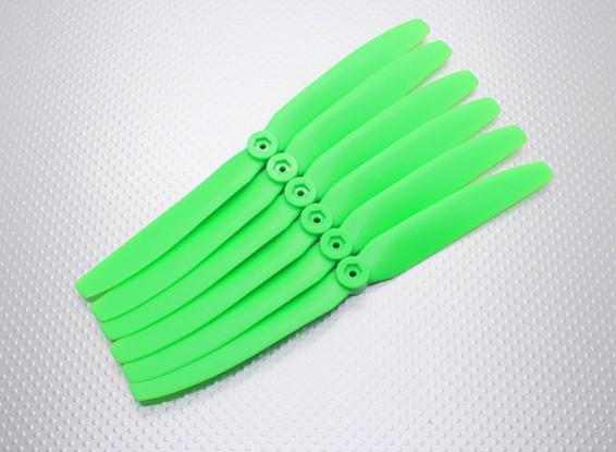 GWS EPプロペラ(DD-8040の203x102mm)、緑(6PCS /セット)