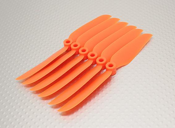 GWS EPプロペラ(DD-4540の114x102mm)オレンジ(6PCS /セット)