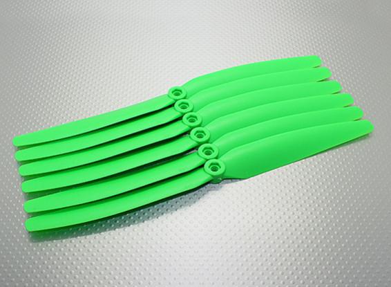 GWS EPプロペラ(DD-1060の254x152mm)、緑(6PCS /セット)
