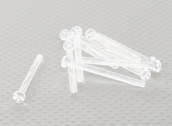 透明なポリカーボネートのネジM4x45mm  -  10個入り/袋