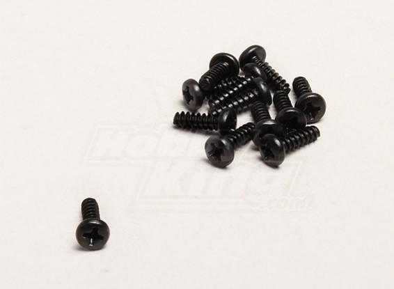 セルフタッピング3x10mmクロススクリュー(個入り/袋) -  Turnigyトレイルブレイザー1/8、XBおよびXT 1/5