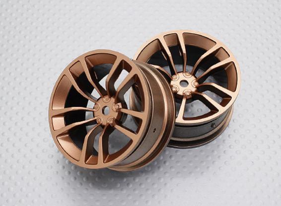 1:10スケール高品質ツーリング/ドリフトホイールRCカー12ミリメートル六角(2PC)CR-DBSG