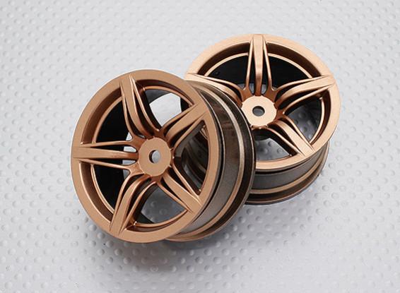1:10スケール高品質ツーリング/ドリフトホイールRCカー12ミリメートル六角(2PC)CR-F12G