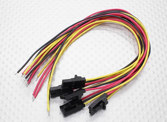 PVC 26AWGワイヤと黄/赤/黒20センチメートルと3ピンオスモレックスプラグ(クリニーク/袋)