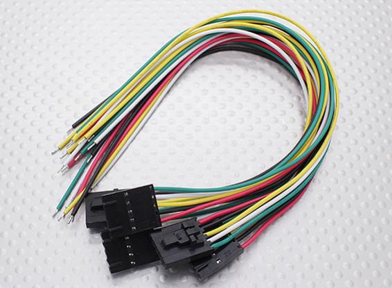 5ピンモレックスの接続リード(スーツFatshark)5PC