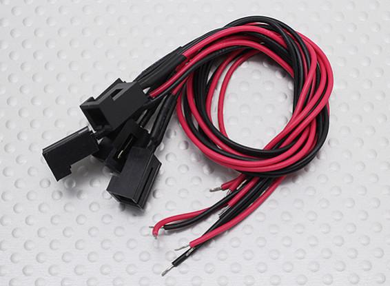 220ミリメートルX 26AWGワイヤ(5PC)とのモレックス2ピンケーブルコネクタ(メス)