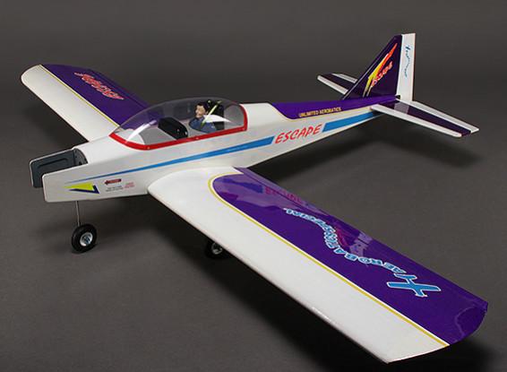 エスケープ - スポーツエアロバティック/ローウィングトレーナー、バルサ、グロー/ EPの1580ミリメートル(ARF)