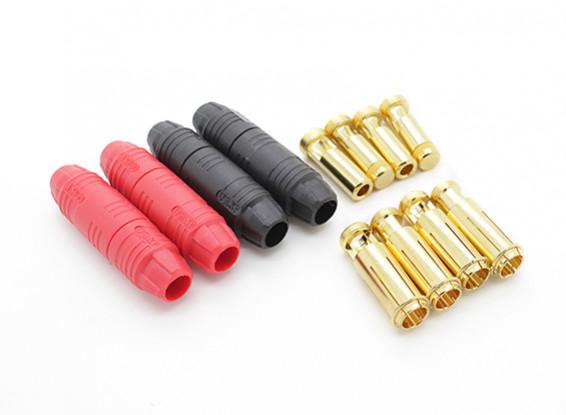 7ミリメートルAS150アンチスパークセルフ絶縁ゴールドブレットコネクタ(2ペア)