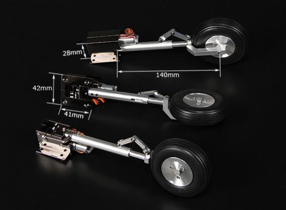 Turnigyデラックスフルメタルインジェクション合金Servolessリトラクト(三輪車)T 28トロイの木馬