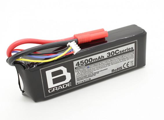 Bグレード4500mAh 3S 30C Lipolyバッテリー