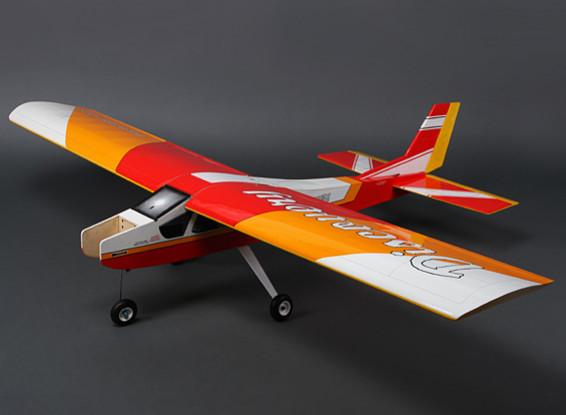 ディスカバリー(レッド)バルサのHi-ウィングトレーナーGP / EPの1620ミリメートル(ARF)