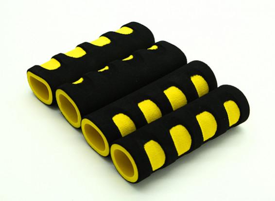 EVAフォームジンバルはイエロー/ブラック(107x34x22mm)(4本)をハンドル