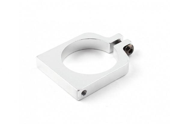 シルバーアルマイトシングルCNCアルミチューブクランプ25ミリメートルの直径を両面