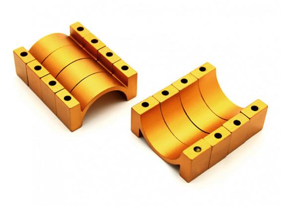 ゴールドアルマイトCNC 10ミリメートルアルミチューブクランプ22ミリメートル径