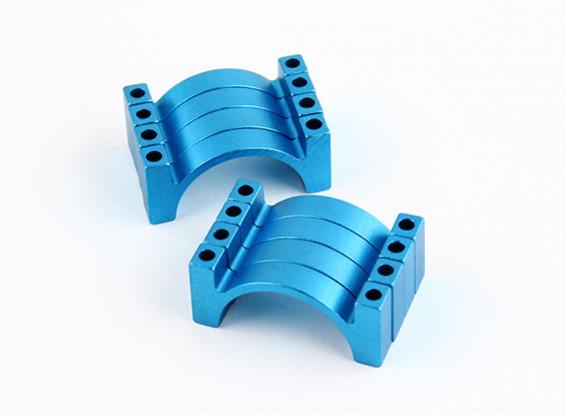 ブルーアルマイトダブルCNCアルミチューブクランプ25ミリメートルの直径を両面