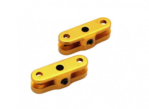 3.17ミリメートルシャフト(ゴールド)1ペアのための25ミリメートル折りたたみプロペラアダプター