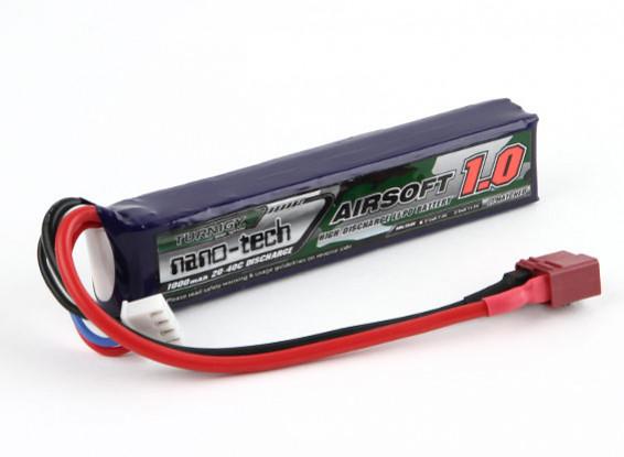 Turnigyナノテクノロジー1000mAhの3S 20〜40CリポAIRSOFTパック(T-コネクタ)