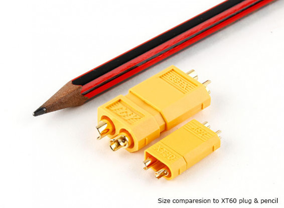 30A連続アプリケーション(バッテリー側)用のXT30電源コネクタ(クリニーク)