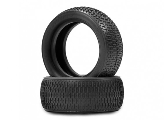JCONCEPTSバーコード1/10 4WDバギーフロントタイヤ - ブラック(メガソフト)化合物