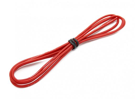 Turnigy高品質20AWGシリコンワイヤー1メートル(赤)