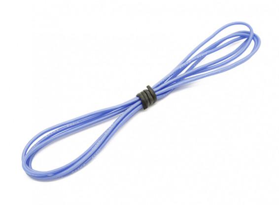 Turnigy高品質24AWGシリコンワイヤー1メートル(ブルー)