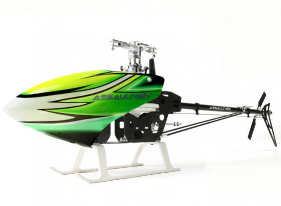 アサルト450DFCベルトドライブフライバーレス3Dヘリコプターキット