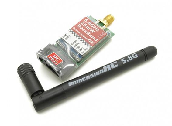 ImmersionRCレースバンド25MW 5.8GHz帯のA / Vトランスミッター