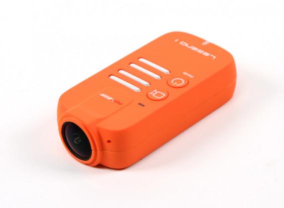 Foxeerレジェンド1 1080P 60fpsのアクションカメラ(オレンジ)