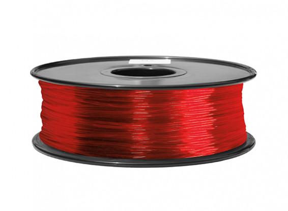 HobbyKing 3D Printer Filament 1.75mm ABS 1KG Spool (Translucent Red)