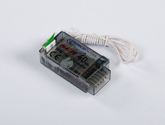 E-フライ6CH受信機PPM / FM 40MHzの