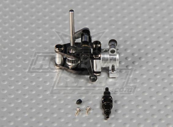 GAUI 100ワット200 CNCアルミテールギアケース/ダブルジョイントテールピッチレバー-ベルトバージョン(ブラックアルマイト処理)