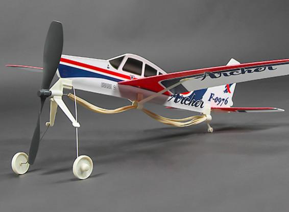 Freeflightゴム動力パイパーチェロキーアーチャーPA-28から181 480ミリメートル