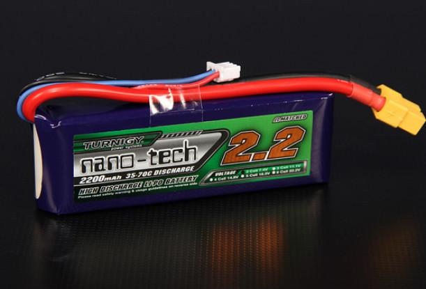 Turnigyナノテクノロジー2200mAhの2S 35〜70Cリポパック
