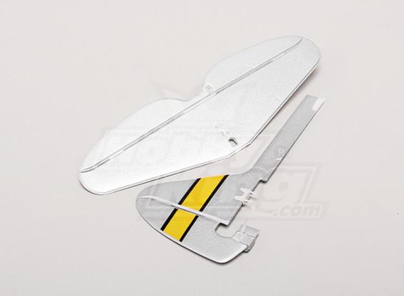 P-47ウルトラマイクロ - 交換垂直テールとHorizonalテールセット