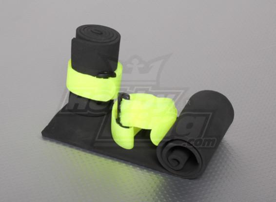 ベルクロストラップ(2個)とスポンジの保護レシーバー&汎用