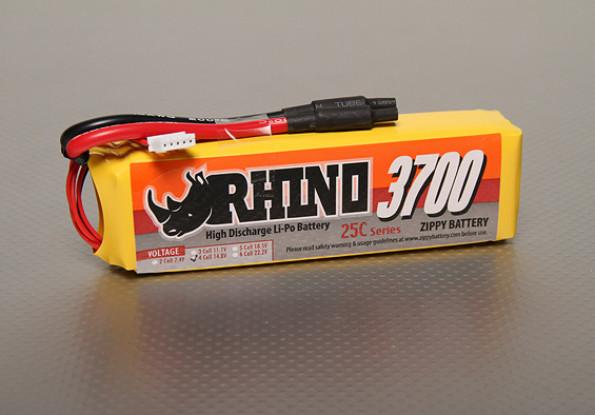 Rhinoの3700mAhの4S 14.8V 25C Lipolyパック