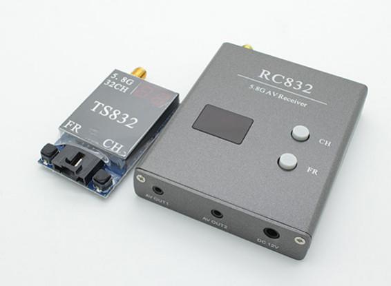SCRATCH / DENTスカイゾーン - レストラン&ラウンジの5.8グラムの600MW 32CH FPV Wirless AVのTx&RxのセットTS832とRC832